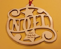 Santa's Candy Castle Ornament - Noel