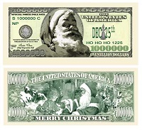 Million Dollar Bills - Santa Claus