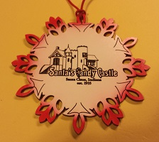 Santa's Candy Castle Ornament - Snowflake